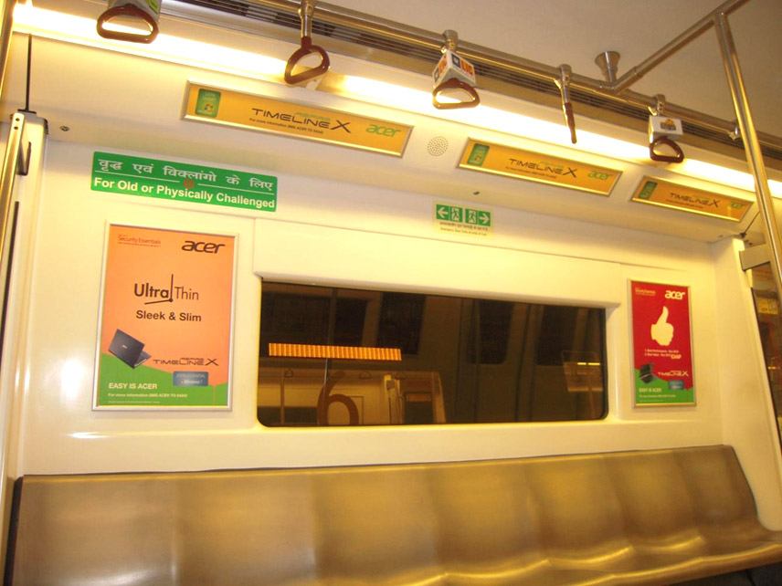 Delhi Metro Advertising, DMRC Advertising Agency, Advertising in